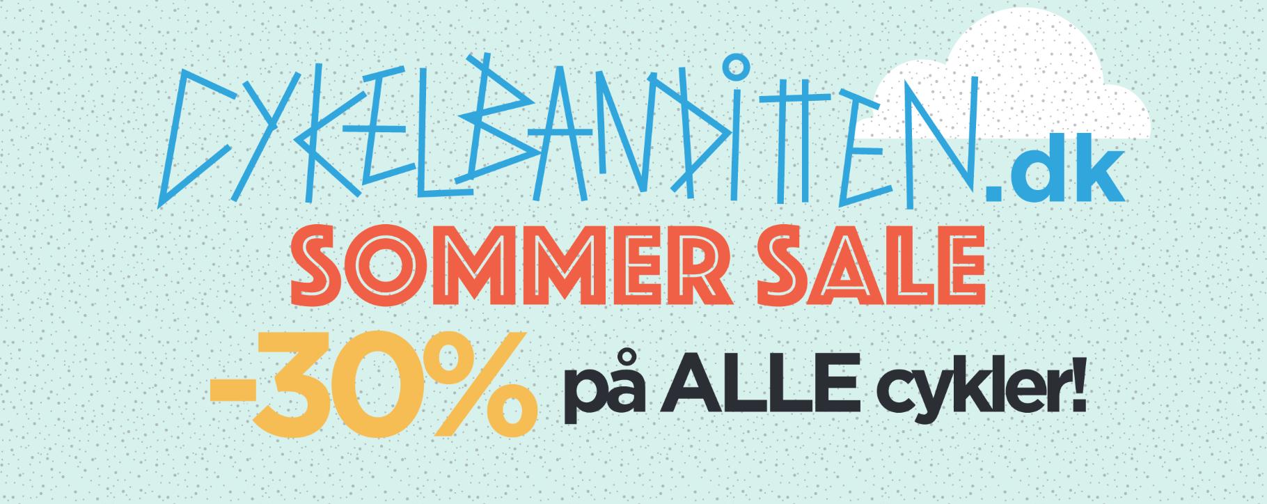 Cykelbanditten.dk - Sommer Sale 30% rabat på alle cykler